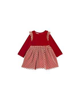 Pippa & Julie - Girls' Stretch Velvet Top Dress - Little Kid