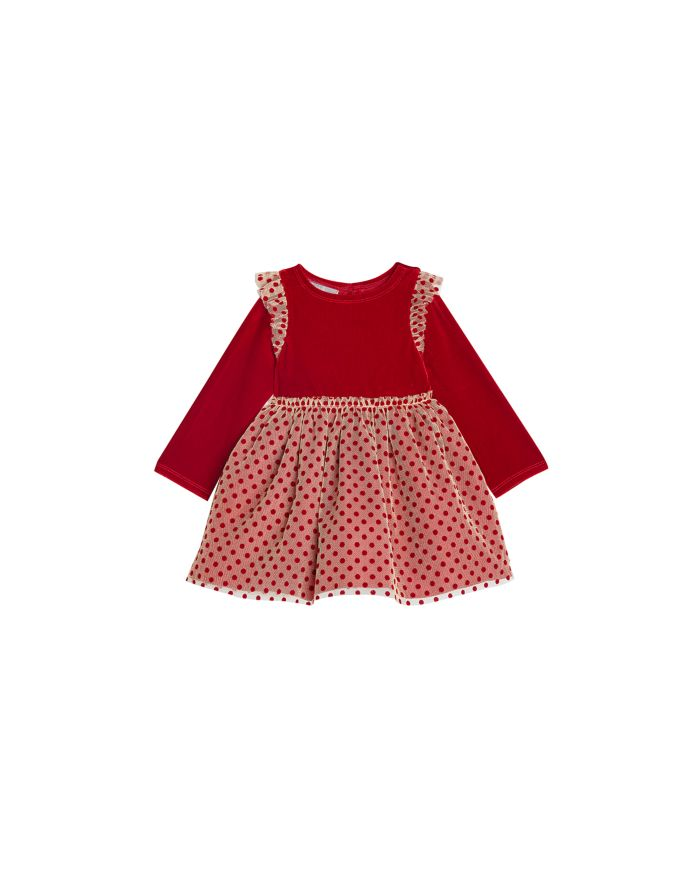 Pippa & Julie Girls' Stretch Velvet Top Dress - Little Kid    Bloomingdale's