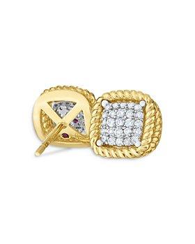Roberto Coin - 18K Yellow Gold New Barocco Diamond Stud Earrings