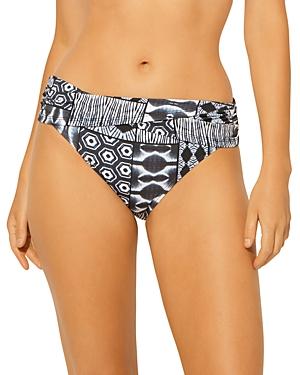 Printed Sarong Bikini Bottom