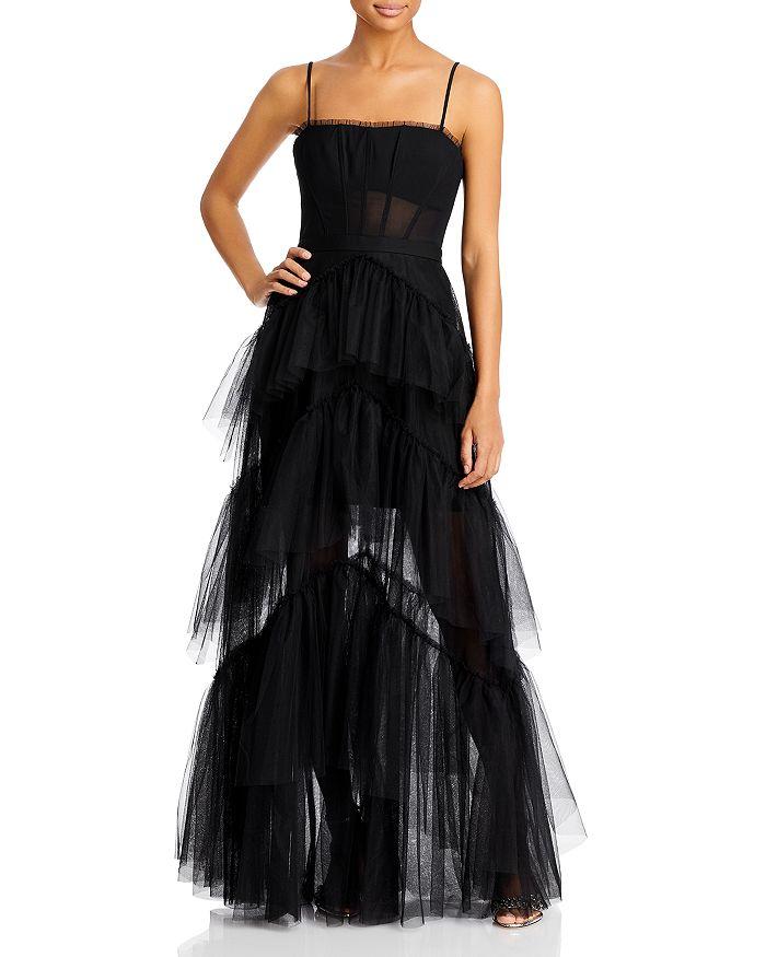 BCBGMAXAZRIA - Tulle Corset Essential Gown