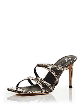 Giuseppe Zanotti - Women's Square Toe High Heel Slide Sandals