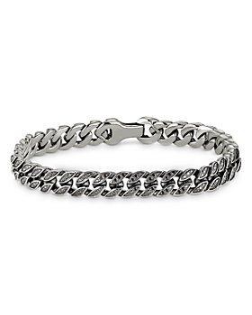 David Yurman - Micro Curb Chain Bracelet with Black Diamonds