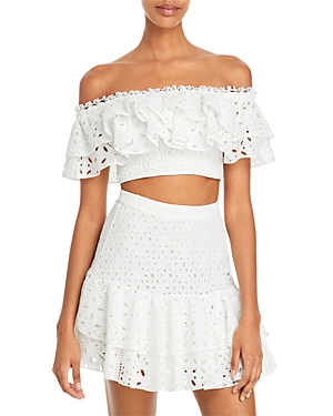 Barbara Cropped Off-the-Shoulder Top