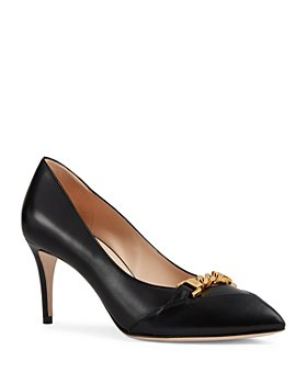Gucci - Women's Sylvie Chain Pointed Pumps