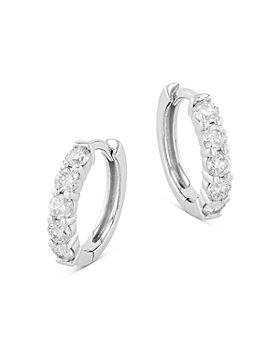 Bloomingdale's - Diamond Huggie Hoop Earrings in 14K White Gold, 1.0 ct. t.w. - 100% Exclusive