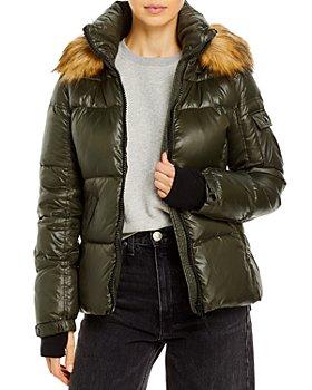 AQUA - Gloss Allie Faux Fur Trim Puffer Jacket - 100% Exclusive