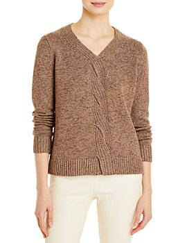 Lafayette 148 New York - Braided Cable Cashmere & Silk Sweater