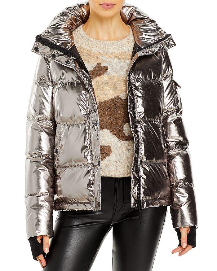 Aqua Metallic Ella Puffer Jacket - 100% Exclusive In Champagne