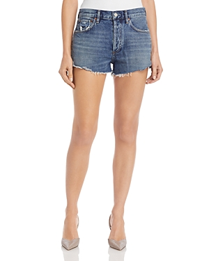 Agolde Parker Cutoff Denim Shorts in Lowkey