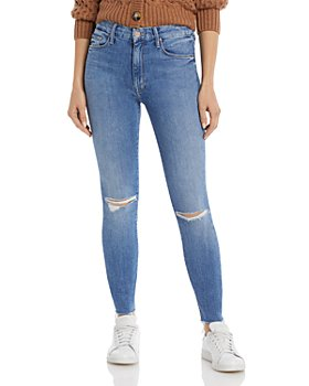 MOTHER - High Waist Looker Skinny Ankle Jeans in Spice It Up