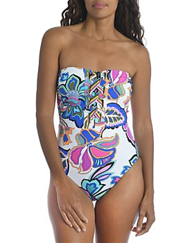 Trina Turk - Mandalay Printed Bandeau One Piece Swimsuit