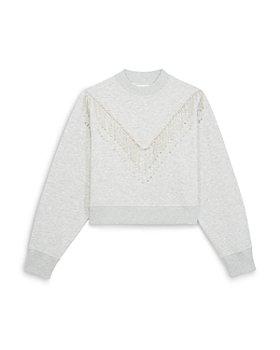 The Kooples - Rhinestone Fringe Sweatshirt