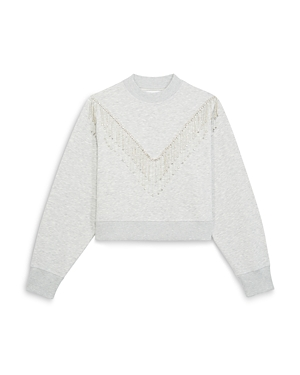 The Kooples RHINESTONE FRINGE SWEATSHIRT