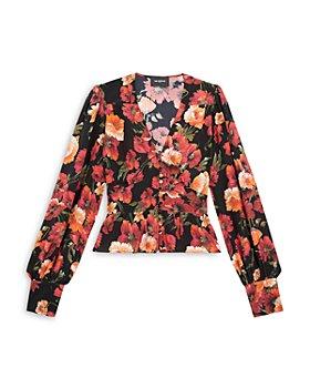 The Kooples - Silk Floral Print Top
