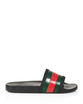 Gucci Men S Rubber Slide Sandals Bloomingdale S