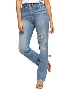 Good American - Good Boy Distressed Boyfriend Jeans in Blue536