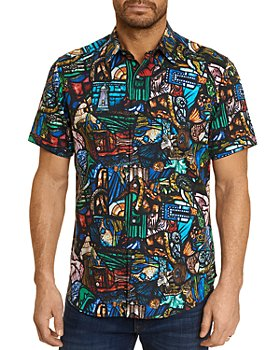 Robert Graham - Prism Effect Cotton Stretch Printed Classic Fit Button-Up Shirt