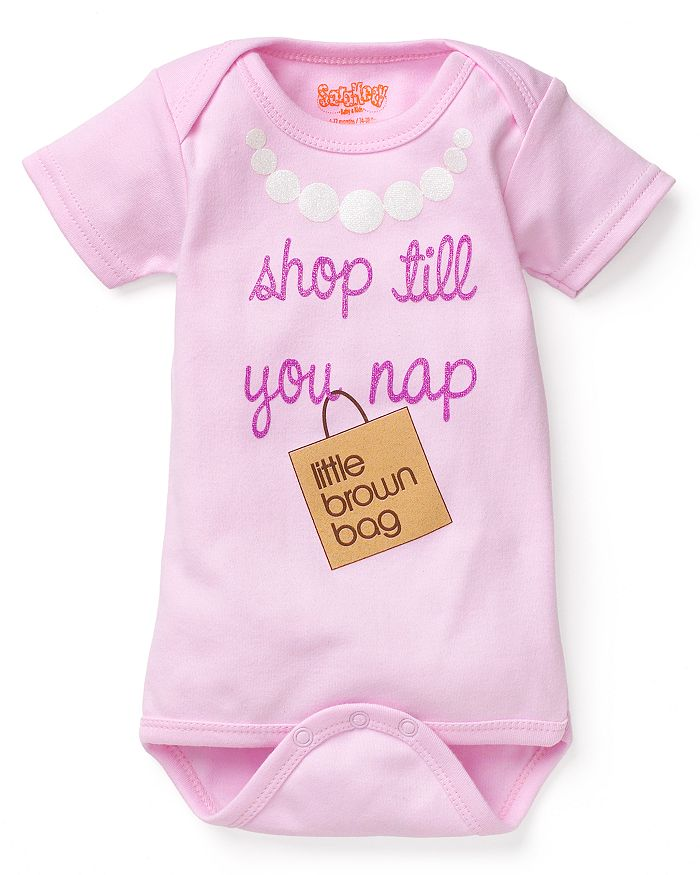 Sara Kety - Girls' Bloomie's Shop Till You Nap Bodysuit, Baby - 100% Exclusive