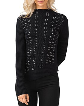 Belldini - Embellished Mock Neck Sweater