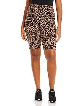 LNA Plus - Leopard Print Bike Shorts