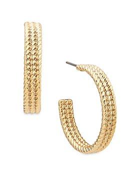 Ralph Lauren - Large Rope Hoop Earrings
