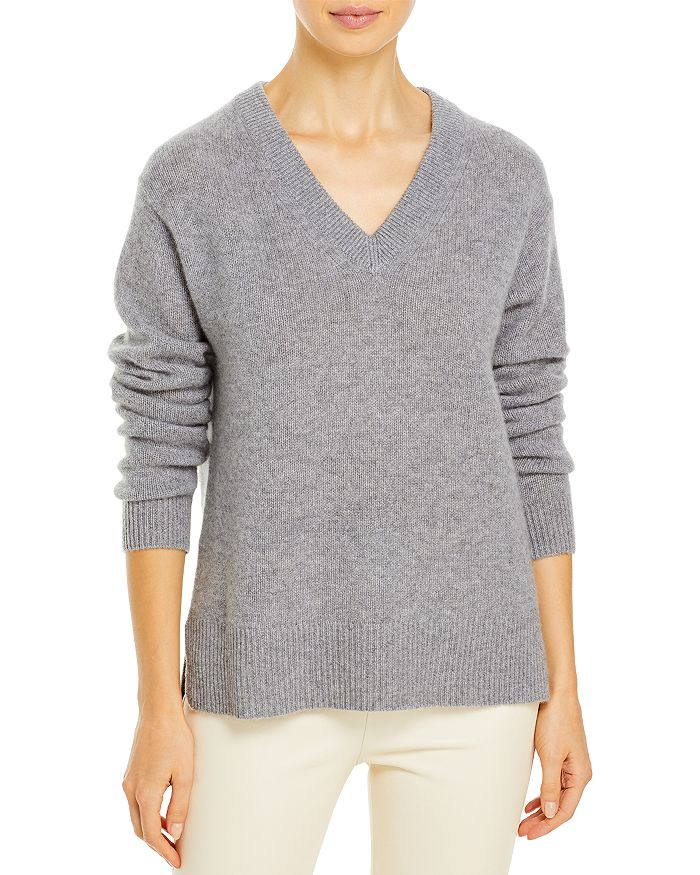 C by Bloomingdale's - Cashmere V-Neck High Low Sweater - 100% Exclusive