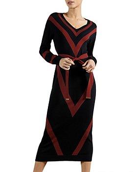 Ted Baker - Bertta Chevron Midi Dress