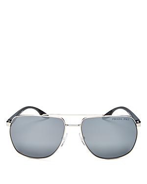 Prada Men\\\'s Polarized Aviator Sunglasses, 62mm