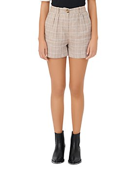 Maje - Itrus Plaid High Waisted Shorts