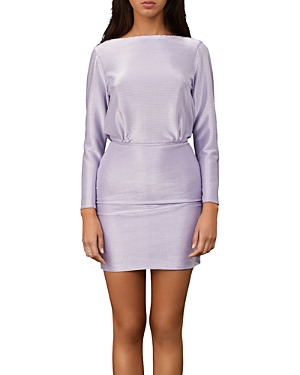 Maje Rimidis Metallic Slim Cut Dress