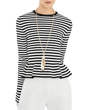 Max Mara Jerzu Striped Bell Sleeve Top-Women