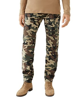 True Religion - Rocco Skinny Fit Moto Jeans in Camo