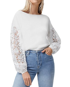 FRENCH CONNECTION - Josephine Lace Sleeve Sweater