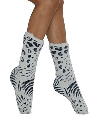 Jungle Cover Faux Fur Slipper Socks