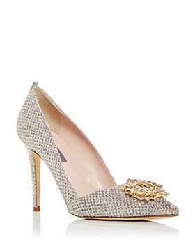 SJP by Sarah Jessica Parker - Women's Gloria Embellished Glitter Pumps