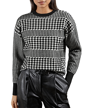 Ted Baker Downs ALTAS HOUNDSTOOTH SWEATER