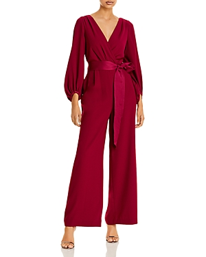 Eliza J Faux-Wrap Jumpsuit-Women
