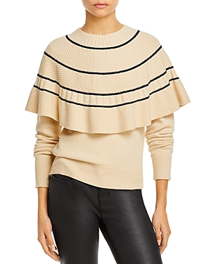 Rebecca Taylor TEXTURED CAPE SWEATER