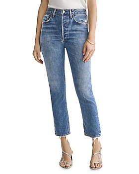 AGOLDE - Riley Straight Cropped Jeans in Frequency