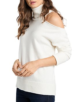 1.STATE - Cutout Shoulder Turtleneck Sweater