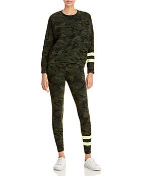 Sundry - Camo Print Sweatshirt & Camo Print Pants