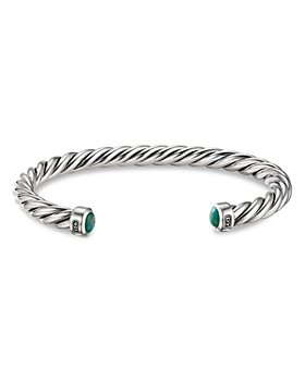 David Yurman - Sterling Silver Cable Cuff with Turquoise