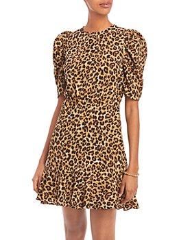 AQUA - AQUA Printed Puff Sleeve Dress - 100% Exclusive