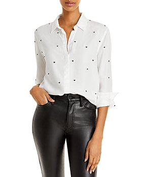 Rails - Yvonne Heart Embroidered Button Down Shirt