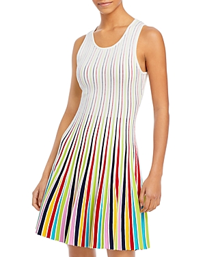Milly Dresses GODET STRIPE FIT & FLARE DRESS