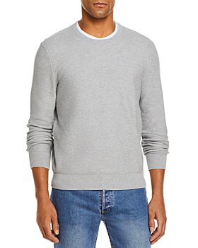 The Men's Store at Bloomingdale's - Tipped Textured Birdseye Crewneck Sweater - 100% Exclusive