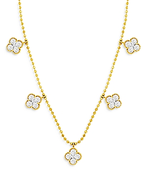 Bloomingdale's Diamond Clover Station Necklace in 14K Yellow Gold, 1.0 ct. t.w. - 100% Exclusive