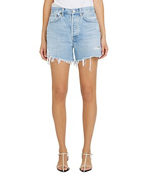 AGOLDE - Parker Long Denim Shorts in Swapmeet