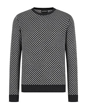 Diagonally Striped Sweater